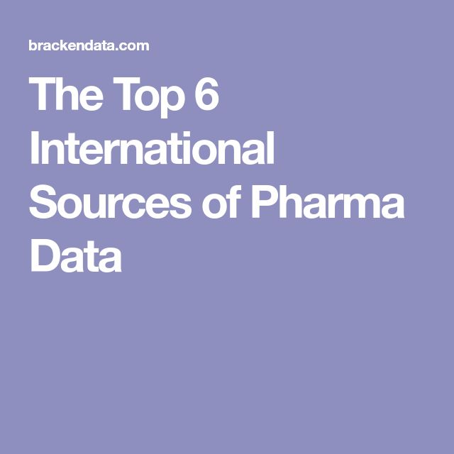 The Top 6 International Sources of Pharma Data