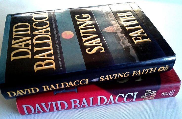David Baldacci Two Hardcover Books Saving Faith, The Sixth Man a31