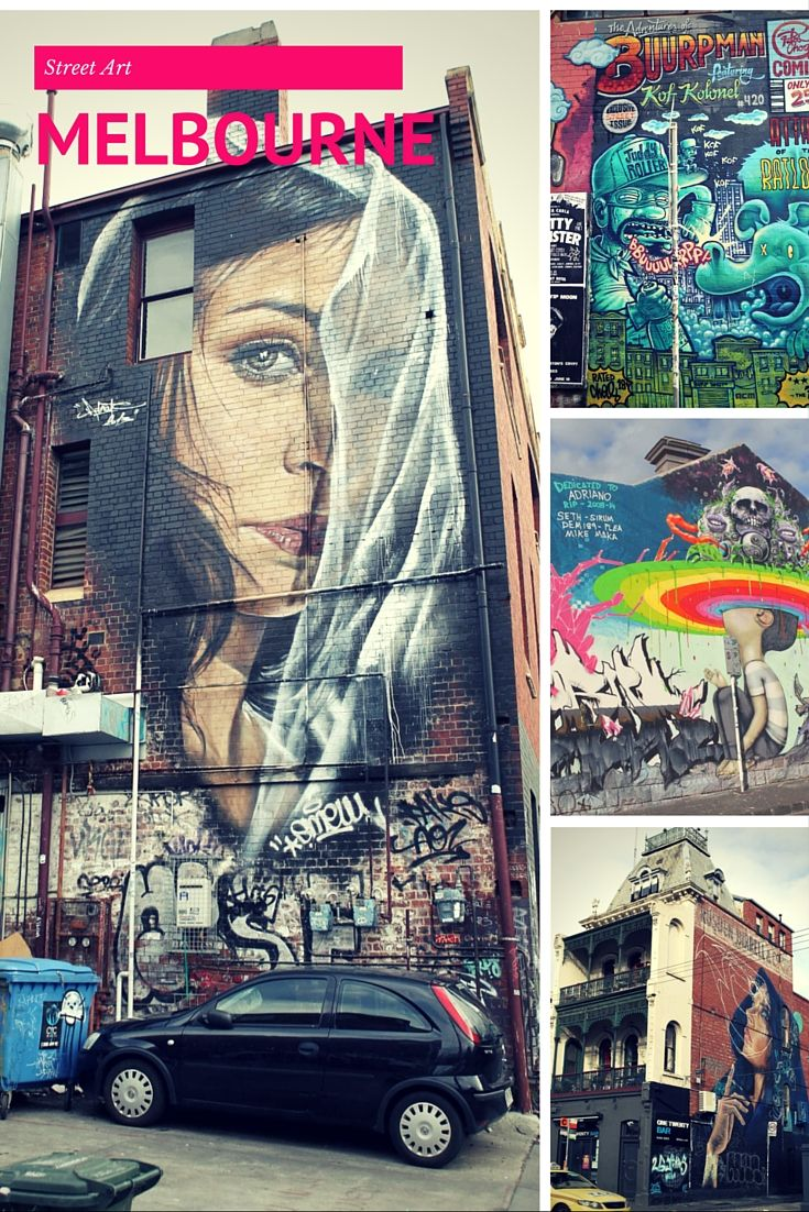 You won't believe some of the wall murals they have in Fitzroy, Melbourne!