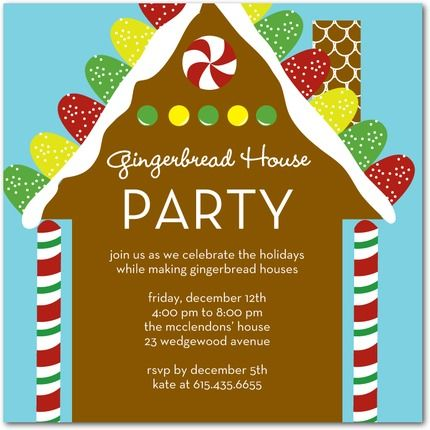 1000 images about gingerbread house ideas we like – Gingerbread Party Invitations