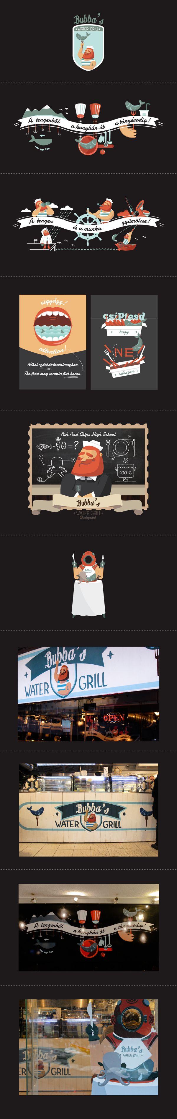 Bubba's Water Grill by Regina Szabó, via Behance