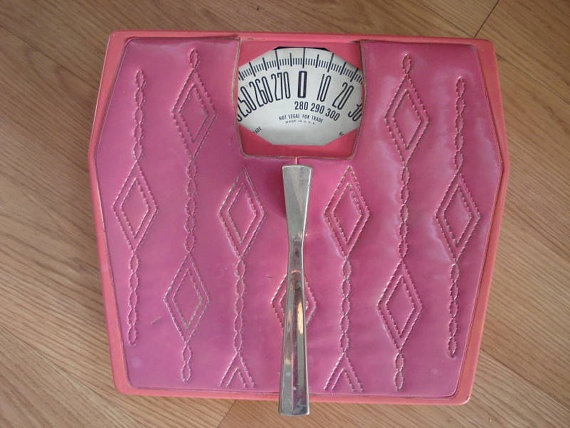 1960s Hot Pink Bathroom Scale 2012193 by bycinbyhand on Etsy, $35.00