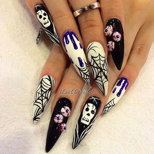63 best halloween 3d nail art designs images on pinterest black i am unfolding before you 15 amazing halloween themed nail art designs ideas trends of try these nails prinsesfo Image collections