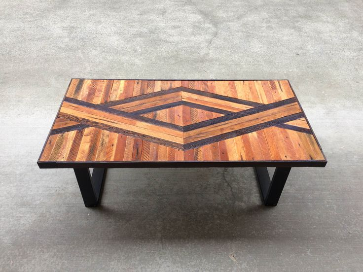 Adam Geometric Wood Coffee Table Made To By Timshelwoodworking