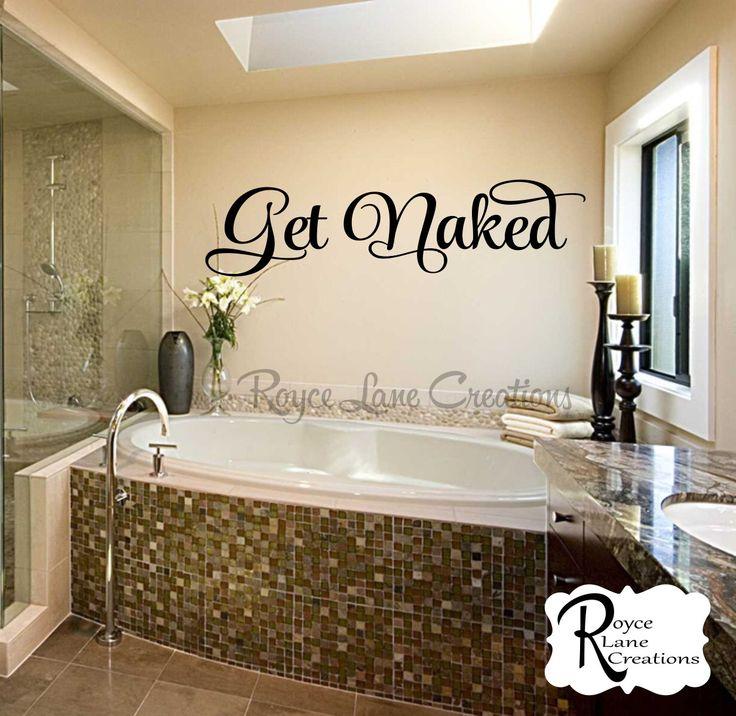 Bathroom Decal Get Naked 2 Bathroom Wall Decal Bathroom Decor Bathroom Wall Decor