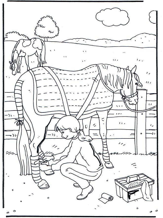preschool horse coloring pages - photo#21