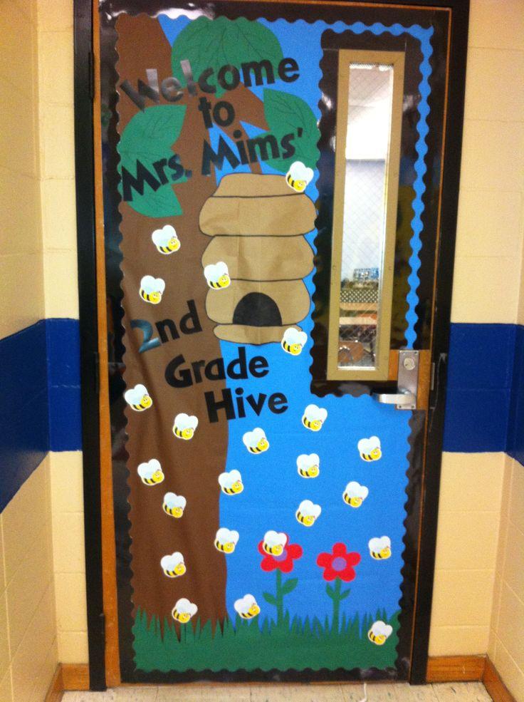 My new door decor for my 2nd grade bee theme! & Best 25+ Preschool door ideas on Pinterest | Preschool door ... pezcame.com