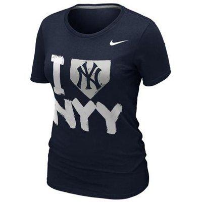 NEW ARRIVAL: Nike New York Yankees Ladies I Love Slim Fit T-Shirt