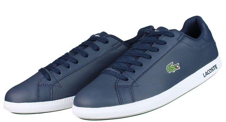 Ανδρικά+δετά+casual+παπούτσια+LACOSTE+σε+απόχρωση+μπλέ.  ΥΛΙΚΟ:+Δέρμα/Συνθετικό+δέρμα.
