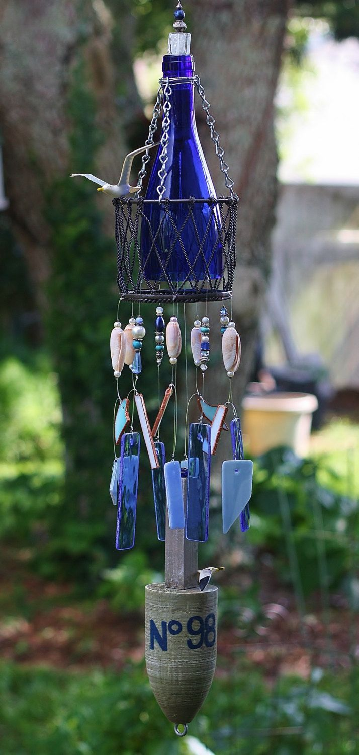 1000 images about stained glass wind chimes on pinterest for Glass bottle wind chimes