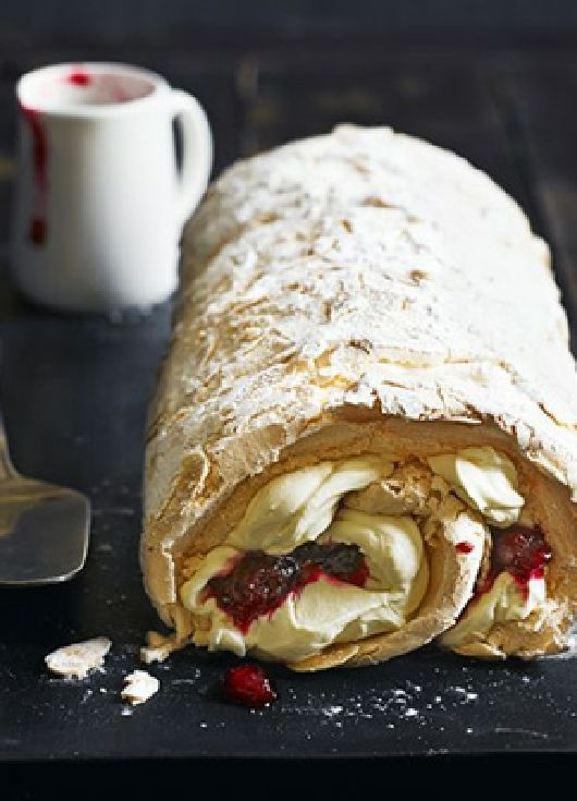 Low FODMAP Recipe and Gluten Free Recipe - Cranberry meringue roulade (update) http://www.ibs-health.com/low_fodmap_cranberry_meringue_roulader.html
