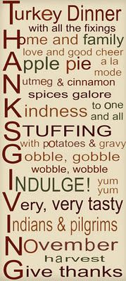 I am thankful for food essay