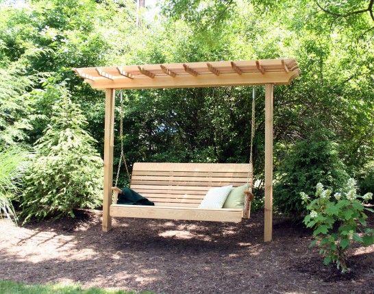 1000 ideas about pergola swing on pinterest cedar for Cool porch swings