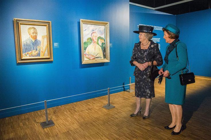 Beatrix opent kunsttentoonstelling in Oslo -  9 mei 2015 Vorsten