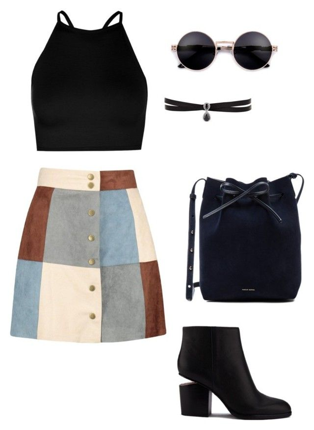 """Untitled #28"" by cleovaladao on Polyvore featuring Boohoo, Alexander Wang, Mansur Gavriel and Fallon"