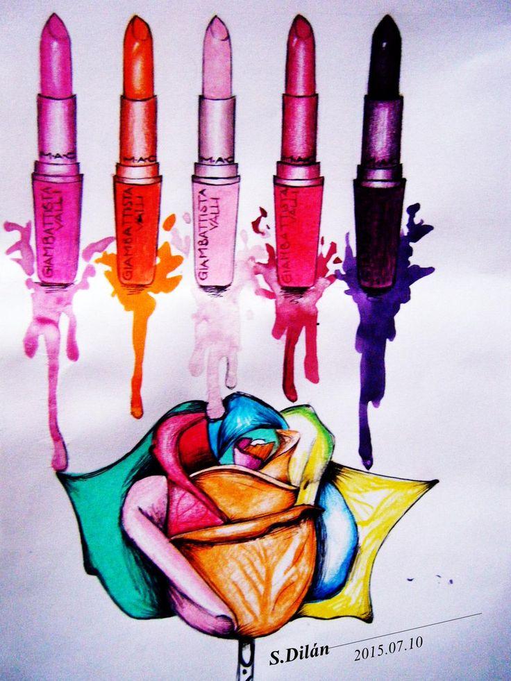 M.A.C @MACcosmetics  @GiambattistaPR   #lipstick #fashion #illustration #mac #love #giambattistava