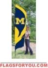 "Michigan Wolverines ""M"" Tall Team Flag 8.5' x 2.5'"