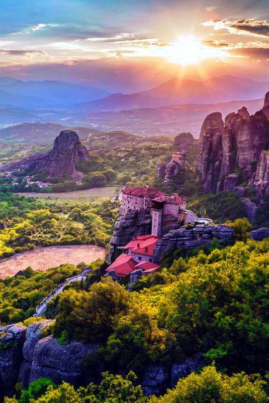 Meteora, Thessaly,Kalabaka, Greece. Μετέωρα, Θεσσαλία, Καλαμπάκα.