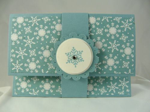 Gift card holders with measurements