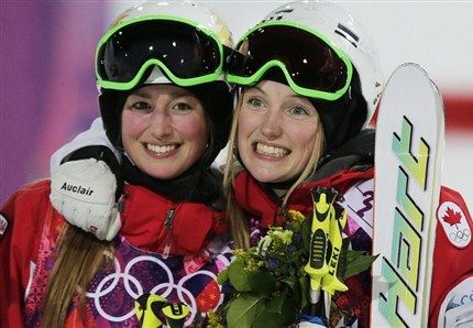 Chloe and Justine Dufour-Lapointe (Photo: The Canadian Press)
