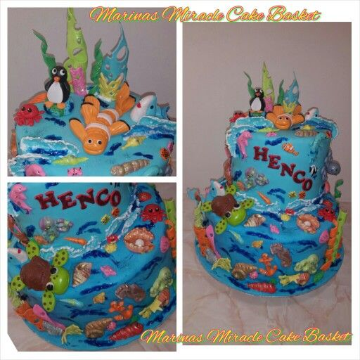 Under the sea theme cake by Marina Kirk-Osman  25th September 2015