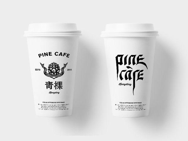 "查看此 @Behance 项目:""青棵/PineCafe""https://www.behance.net/gallery/32841859/PineCafe"