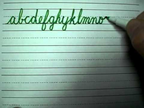 How to write in cursive 1/3
