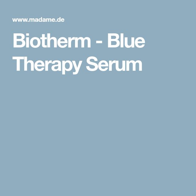 Biotherm - Blue Therapy Serum