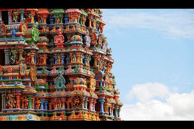 Indian Gopuram - Madurai Meenakshi Amman Temple by Natesh Ramasamy, via Flickr