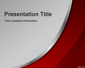 Free Genuine PowerPoint Template with red and gray colors