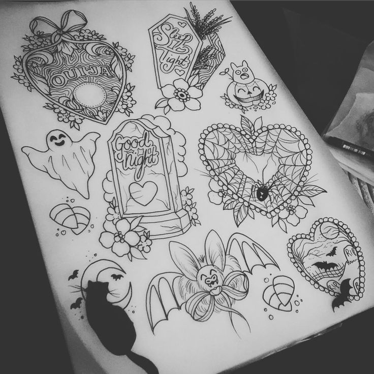 95 best images about tattoo flash on pinterest fan for Small tattoo flash