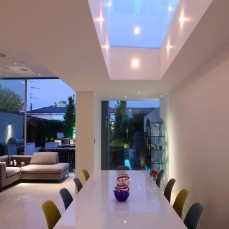 John Cullen Lighting | Kitchen lighting - this is how a side return and kitchen extension should be done. Be generous with your money and install as big a glass skylight as you can. The flush spotlights in the skylight enhance....