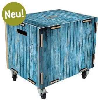 Werkhaus Shop - Rollbox - Holz türkis