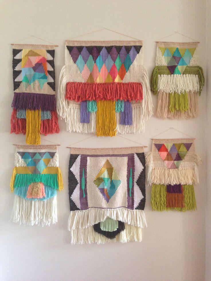 Weavings by Maryanne Moodie Www.maryannemoodie.com #weaving #diyweaving #weavinginspiration