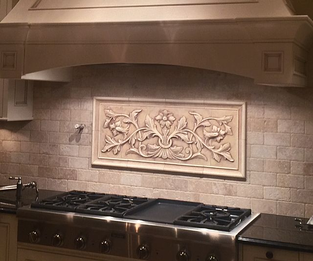 French Flowers And Plain Frame Liners 17 X Find This Pin More On Relief Tile Murals For Your Kitchen Backsplash