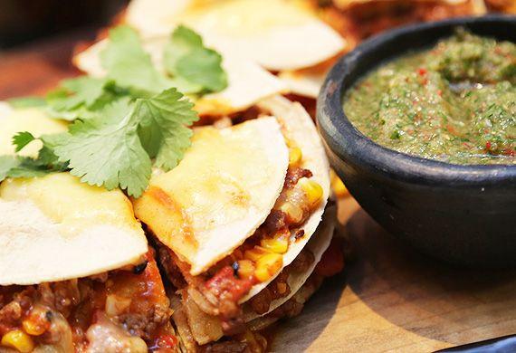 Continental's Mexican tortilla stack
