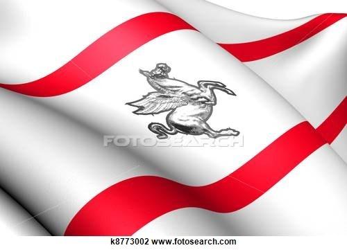 Flag of Tuscany, Italy