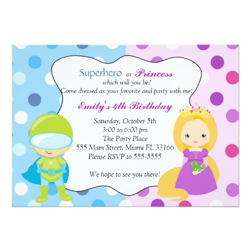115 best superhero birthday party invitations images on pinterest superhero birthday invitations superhero princess invitation kids birthday party stopboris Choice Image