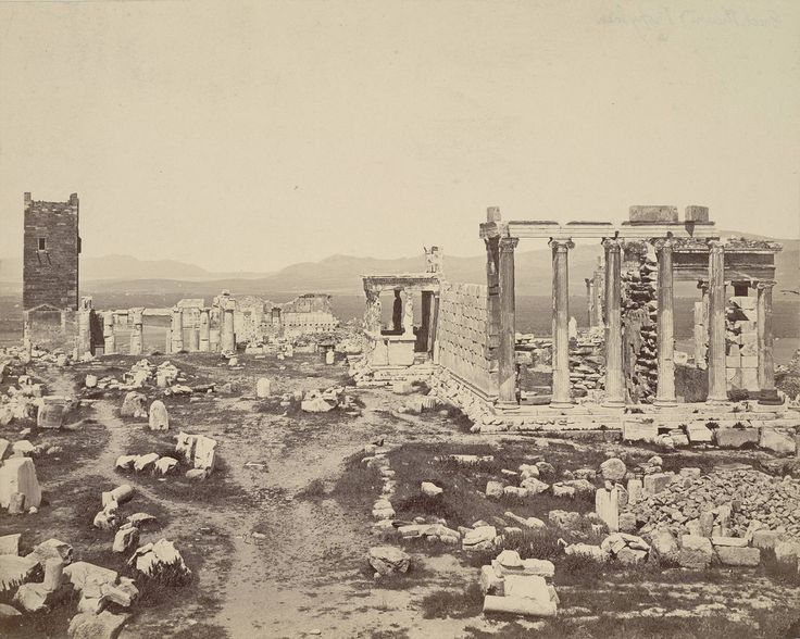 https://flic.kr/p/6B85h1 | Acropolis, Propylaea and Erechtheum | Collection: A. D. White Architectural Photographs, Cornell University Library Accession Number: 15/5/3090.00022  Title: Acropolis, Propylaea and Erechtheum  Architect:  Mnesikles (Greek)   Photograph date: ca. 1865-ca. 1875 Building date of Erechtheum: ca. 421 BC-ca. 405 BC Building date of Propylaea: 437-432 BC   Location: Europe: Greece; Athens  Materials: albumen print  Image: 7.874 x 9.8425 in.; 20 x 25 cm  Provenance…