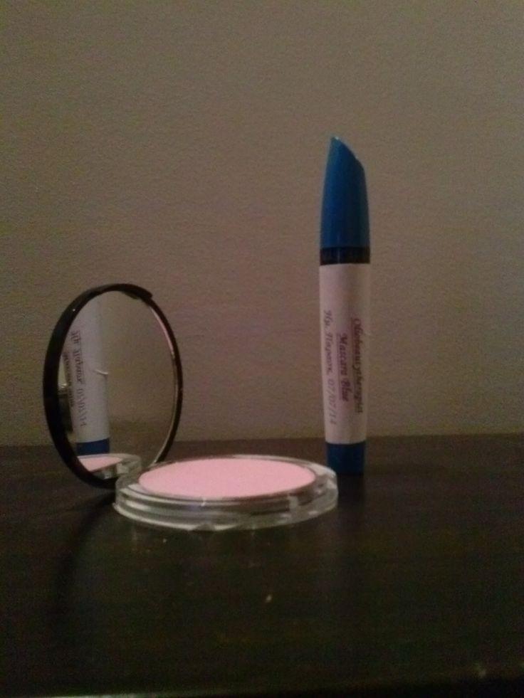 Μπλε μασκαρα και ρουζ !! #handmade #mascara #blue