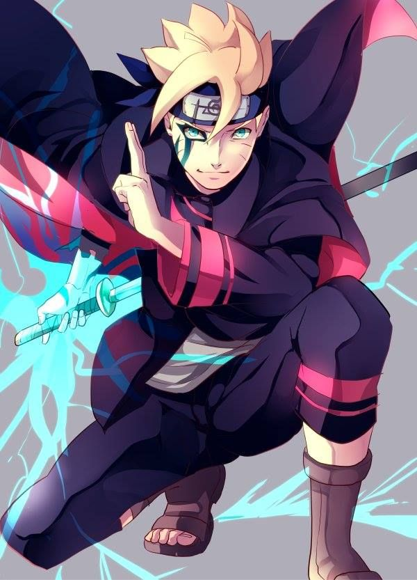 Uzumaki Boruto | hmm..this boy is really badass ; looks like his father with Sasuke's skill.