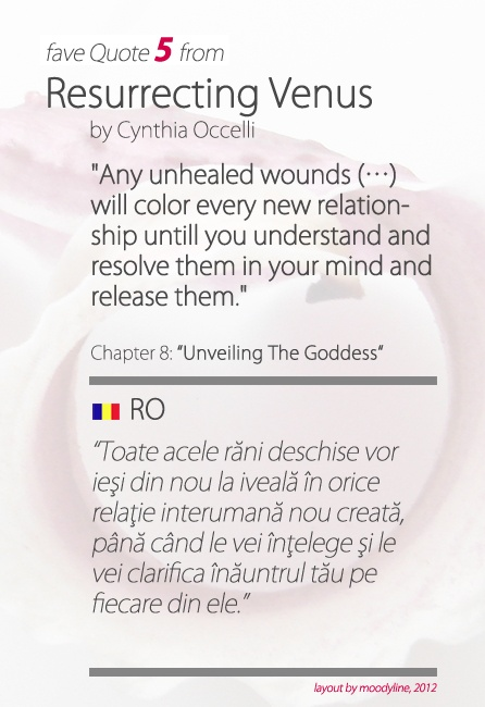 """quote from """"Resurrecting Venus"""", by Cynthia Occelli"""