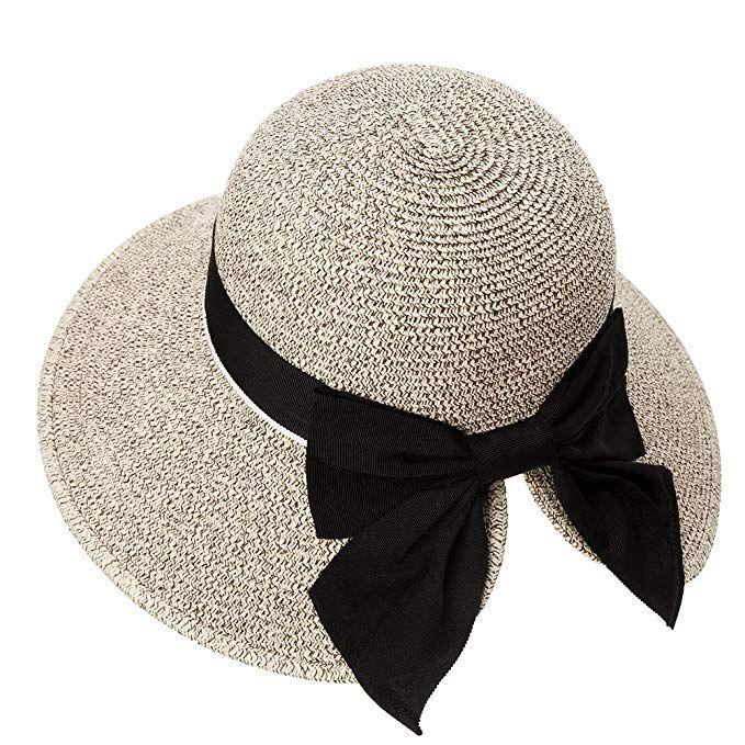 Siggi Womens Floppy Summer Sun Beach Straw Hat Upf50 Foldable Wide Brim 55 60cm At Amazon Women S Clothing Store Floppy Sun Hats Floppy Hat Summer