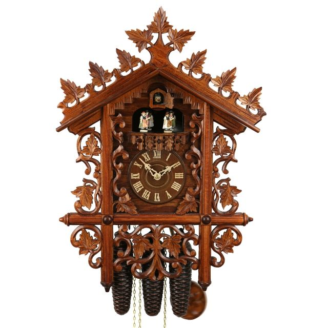 this original black forest cuckoo clock is a replica of a railroad house the intricately - Black Forest Cuckoo Clocks