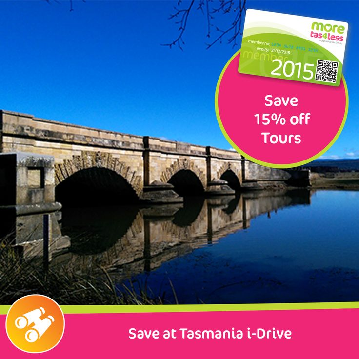 Save 15% off tours with Tasmania iDrive  see more, live more, save more in Tasmania with a moretas4less discount card .  For only $37 this little card can save you big dollars