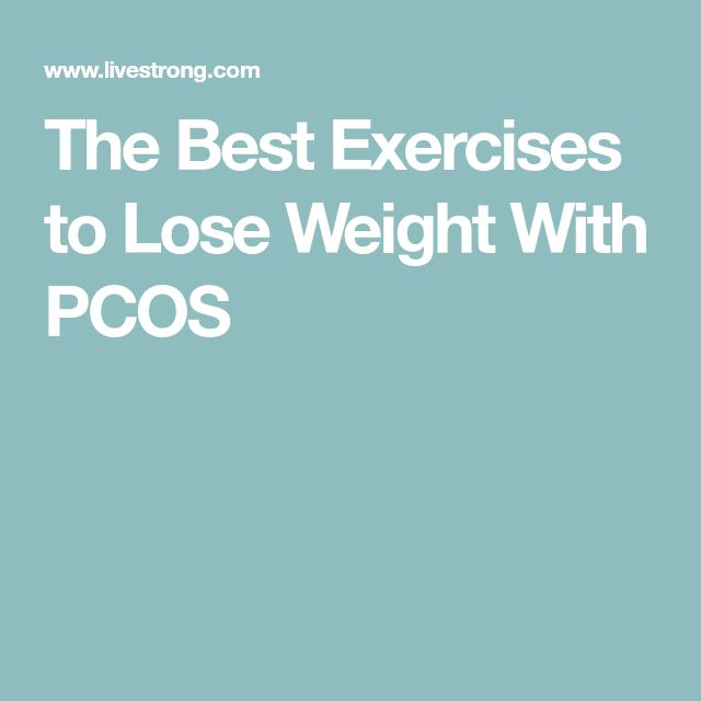 The Best Exercises to Lose Weight With PCOS