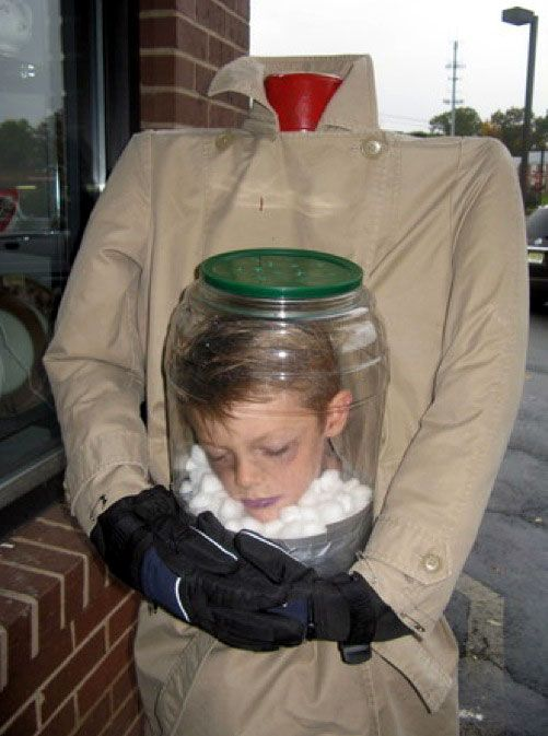 Great costume!  @Lisa Price this reminds me of something your boys would do!
