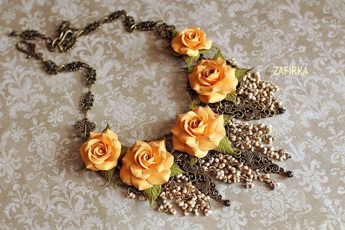 Розы оранжевые украшения
