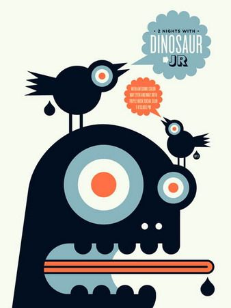 Dinosaur Jr. Concert Poster By Aesthetic Apparatus
