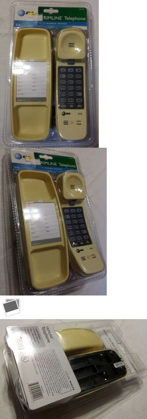 Corded Telephones: Atandt Trimline 210 1.9 Ghz Single Line Corded Phone Yellow New Old Stock New Nos -> BUY IT NOW ONLY: $49.99 on eBay!